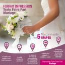 Forfait Impression - Texte Faire Part Mariage