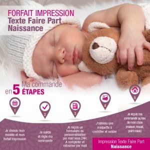 Forfait Impression Texte - Faire Part Naissance