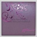 Faire Part Mariage - Arabesque Violette
